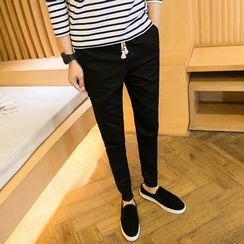 Alvicio - Drawstring Waist Slim Fit Pants