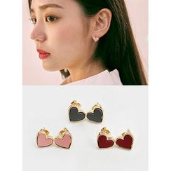icecream12 - Heart Stud Earrings