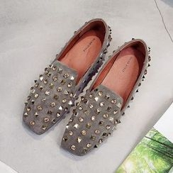 Golden Cobbler - Studded Loafers