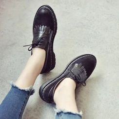 Charming Kicks - Fringed Loafers