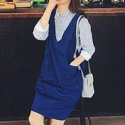 Lakoko - Denim Jumper Skirt