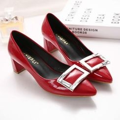 Monde - Buckle Patent Pumps