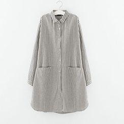 Meimei - Striped Long Shirt