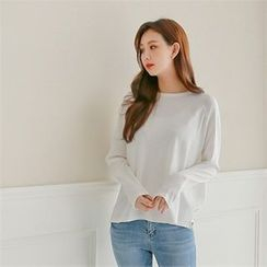 Styleberry - Raglan-Sleeve Dip-Back T-Shirt