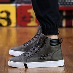 HANO - Zip High-top Sneakers