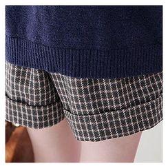 Sechuna - Band-Waist Wool Blend Shorts