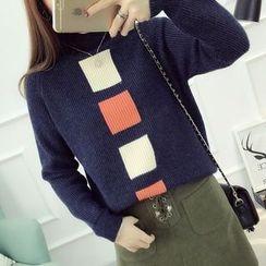 FR - Square Mock Neck Sweater