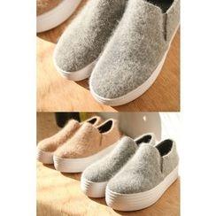 PPGIRL - Wool Blend Slip-Ons