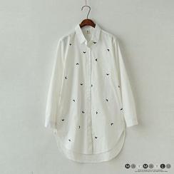 Maymaylu Dreams - Heart Embroidered Long Shirt