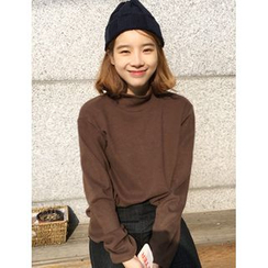 FROMBEGINNING - Turtle-Neck Loose-Fit T-Shirt