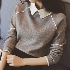 Rocho - 飾領針織上衣