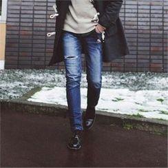 Superstar.i - Cutout-Detail Straight-Cut Jeans