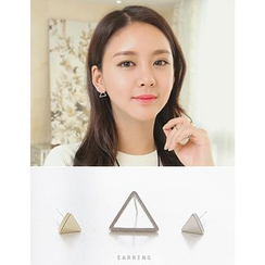 soo n soo - Set of 3: Triangle Stud Earrings (Single)