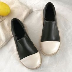 SouthBay Shoes - Platform Slip Ons