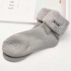 MITU - 毛毛邊襪