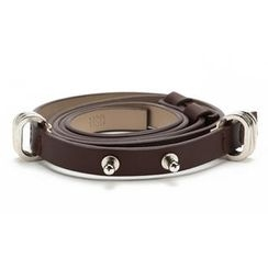 O.SA - Genuine Leather Slim Belt
