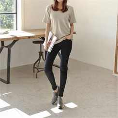Styleberry - Band-Waist Skinny Pants