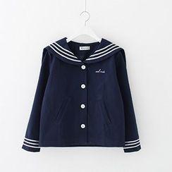 Meimei - Stripe Sailor Collar Jacket