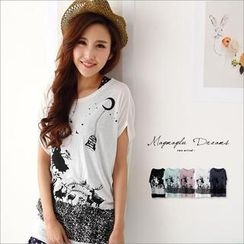 Maymaylu Dreams - Loose-Fit Printed Tee