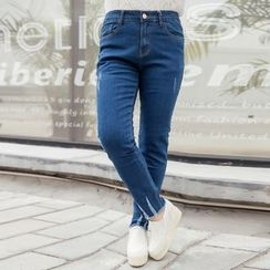 CAIDOBLE - Distressed Skinny Jeans
