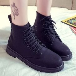 QQ Trend - Lace-Up Short Boots