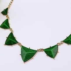 O.SA - Jeweled Triangular Necklace
