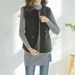 JUSTONE - Drawstring-Waist Neoprene Zip Vest