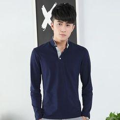 Walwa - Stand-collar Long-Sleeve T-shirt