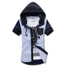 MR.PARK - Color-Block Hooded Shirt