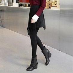 ZIZIBEZIRONG - Inset Shorts Mini Wrap Skirt