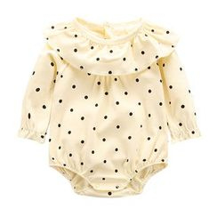 Madou - Baby Ruffled Dotted Bodysuit