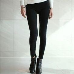 YOOM - Band-Waist Leggings Pants