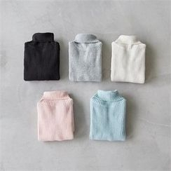 PEPER - Turtle-Neck Rip-Knit Top