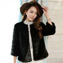 Ryefield - 3/4-Sleeve Furry Jacket