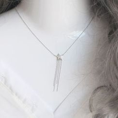 Love Generation - Star Tasseled Sterling Silver Necklace