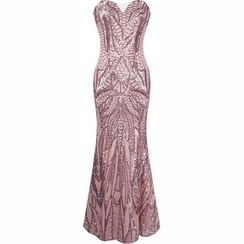 Charlotte - Strapless Sequined Evening Gown