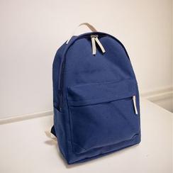 Crystal - Plain Canvas Backpack
