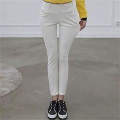 CHICFOX - Distressed-Hem Skinny Jeans