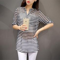 Cobogarden - Striped Long Shirt