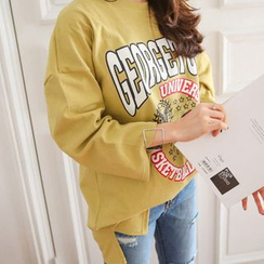 PPGIRL - Round-Neck Printing T-Shirt