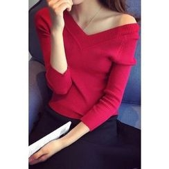 Dream Girl - Plain 3/4 Sleeve Knit Top