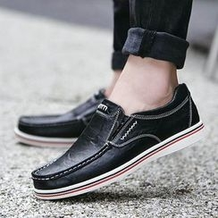 MARTUCCI - Genuine-Leather Stitched Loafers