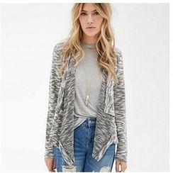 Fundae - Drape Melange Knit Jacket