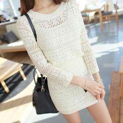 WITH IPUN - Set: Knit Top + Knit Skirt