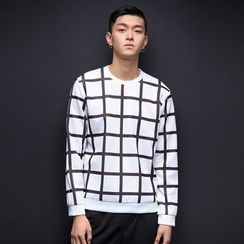 T for TOP - Long-Sleeve Check Top