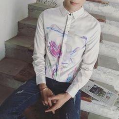 Soulcity - Printed Long-Sleeve Shirt