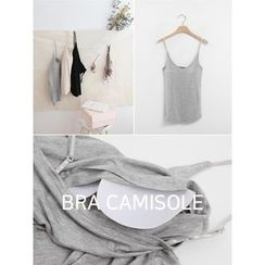 hellopeco - Inset Bra-Pad Camisole Top