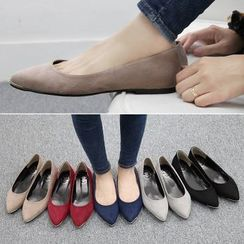 Reneve - Faux-Leather Plain Flats