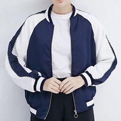 LUIMINE - Embroidered Baseball Jacket