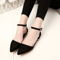 Wello - Ankle Strap Flats